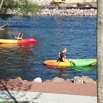 There is a public canoe/kayak launch located just steps from our building.