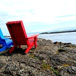 A Love Story, learn how these two chairs found each other on the rock at McNeil Bay