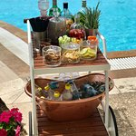The Gin cart that goes round the deluxe pool once a day