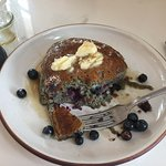 Blue Corn Pancakes with blueberries