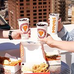 Our customers enjoying a Popeyes Treat