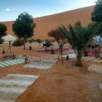 local das tendas para recepcionar os turistas no deserto