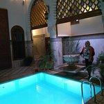 pátio interno do Riad em Fes