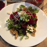 Mixed beet salad with gorgonzola