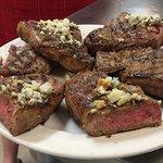 Perfect medium steaks