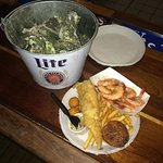 Oyster bucket and seafood platter!