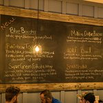 Specials are just written up on a blackboard`