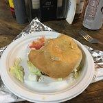 Great Burger, sourdough bun !
