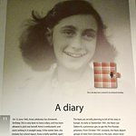 Placard Showing Picture of Anne and Her Famous Diary