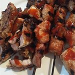 chicken bbq and grilled pork kawali whatever you call it