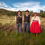 Wilson, Eustaquio and Luzmila - members of our host family in Llachon