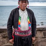 An official on Taquile Island