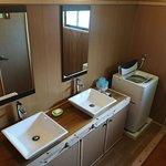 新築された洗面台、洗濯機もご利用できます