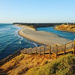 The iconic staircase at the Onkaparinga River Mouth