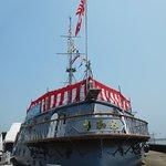満艦飾を行う三笠、full dressed ship of MIKASA