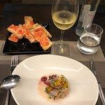 Sea Bass Ceviche and Tomato Bread
