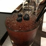 Bramble cocktail... very icy!