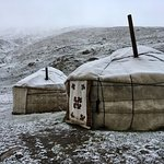 Taigan Expeditions- Yurts we stayed in with BEAUTIFUL view