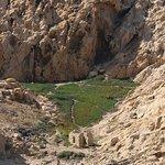 Au pied de lîle, il y a des vestiges d'anciennes habitations