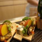 Seasonal veggies and fish