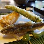 Tempura fish and veggies