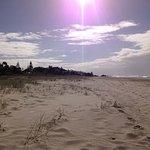 As the sun starts to set on Tugan Beach
