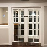 Double doors to prevent unwanted draughts