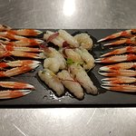 Sashimi de cigalitas de lonja