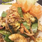 Traditional Thai starters, stir frys, curries and noodle dishes available all day