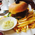 Chicken Burger + French Fries Potatoes + Mayonnaise Sauce