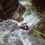 Canyoning on Soča river