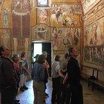The incredible interior of the Oratorio in Bominaco