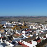 View across the rooftops from La Vista de Medina