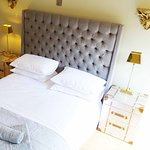 The Lodge double  bedroom in Waddington, just three miles from Clitheroe in Lancashire.