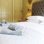 The Lodge, double bedroom with ensuite in Waddington near Clitheroe in Lancashire.