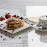 Pancake with really delicios coffee BOU.