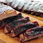 Mouth watering slowly smoked ribs