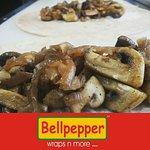 Bellpepper Mushroom Onion Wrap