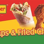 Bellpepper Wraps & Fried Chicken !