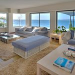 Seadeck Lounge for all guests has 180 degree sea views onto the waves