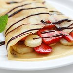 Crepes with fresh organic fruit