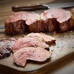 Picanha: Prime part of the Top Sirloin. Lightly seasoned with rock salt & sliced thin