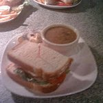 Something on the lighter side enjoy our combo with a half a sandwich with a cup of homemade soup
