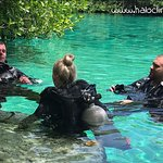 Here you can see Kasper with clients in Casa Cenote