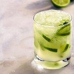 Caipirinha: Muddled with Fogo Silver Cachaça, the native spirit of Brazil, limes, cane sugar