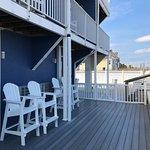 Oceanfront deck for first floor suites