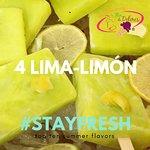 Nieve y paletas de lima y limón