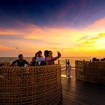 Enjoy stunning sunset at Rock Island Club