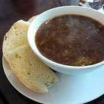 Hearty Onion Soup at The Oxford restaurant in Timaru