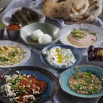 Homemade Greek Dips and Bread